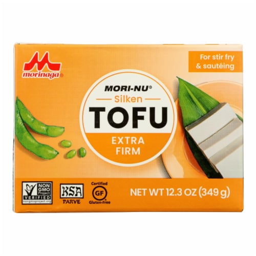 Mori-Nu Silken Tofu - Extra Firm - Case of 12 - 12.3 oz. Perspective: front