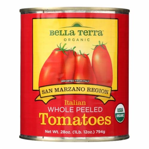 Bella Terra Organic Italian Whole Peeled Tomatoes - San Marzano - Case of 12 - 28 oz. Perspective: front