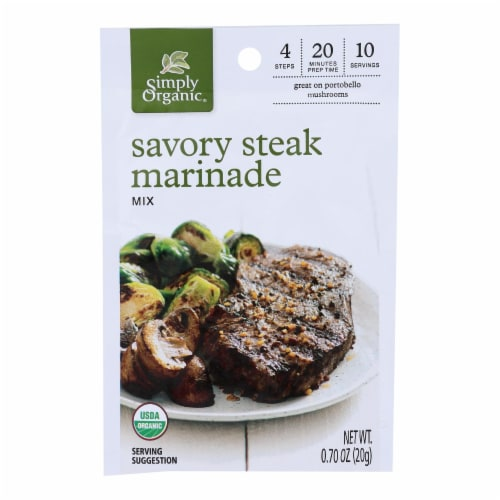 Simply Organic - Marinade.og2.savory Steak - Case of 12 - 0.70 OZ Perspective: front
