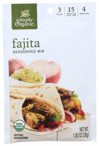 Simply Organic Seasoning Mix - Fajita Perspective: front