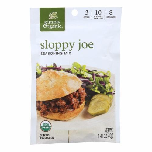 Simply Organic Seasoning Mix - Sloppy Joe - Case of 12 - 1.41 oz. Perspective: front