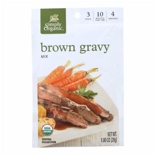 Simply Organic Vegetarian Brown Gravy Seasoning Mix - Case of 12 - 1 oz. Perspective: front