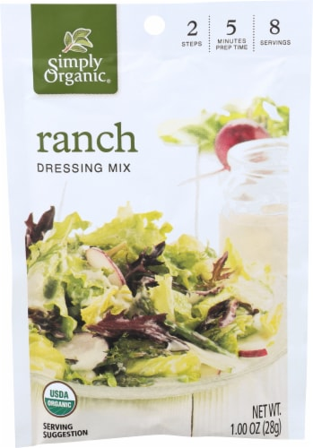 Simply Organic Ranch Salad Dressing Mix - Case of 12 - 1 oz. Perspective: front