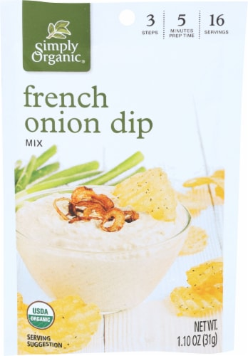 Simply Organic French Onion Dip Mix - Case of 12 - 1.1 oz. Perspective: front