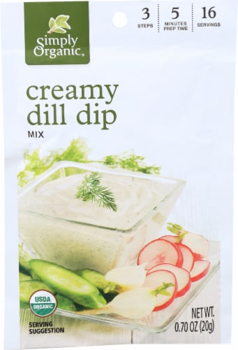 Simply Organic Creamy Dill Dip Mix - Case of 12 - 0.7 oz. Perspective: front