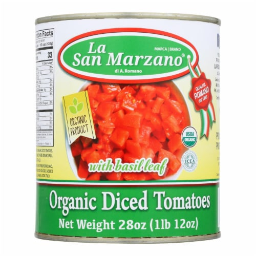 La San Marzano - Tomatoes Diced - Case of 12-28 OZ Perspective: front