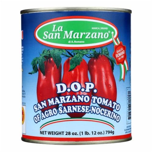 La San Marzano - Tomatoes Dop San Marz - Case of 12-28 OZ Perspective: front