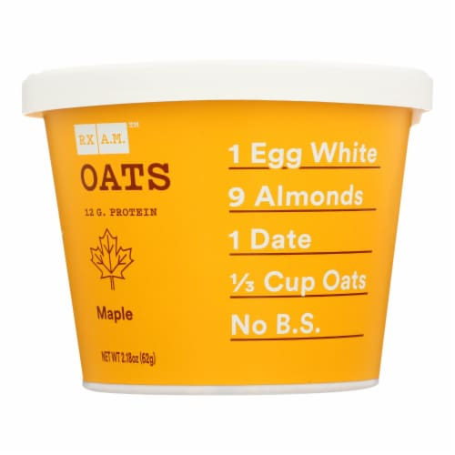 Rxbar - Rx A.m. Oats Maple - Case of 12 - 2.18 OZ Perspective: front