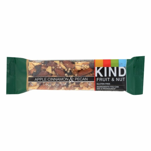 Kind Bar - Apple Cinnamon and Pecan - Case of 12 - 1.4 oz Perspective: front