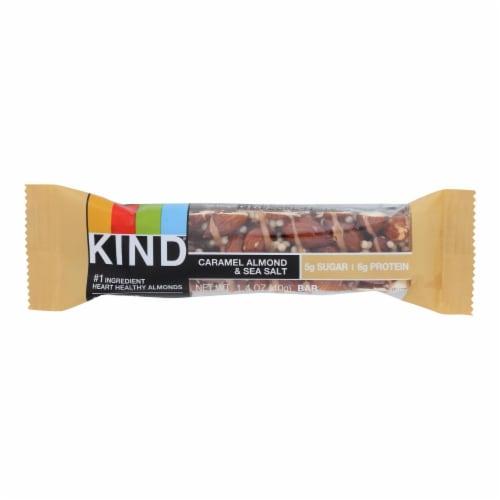 Kind Bar - Caramel Almond and Sea Salt - 1.4 oz Bars - Case of 12 Perspective: front