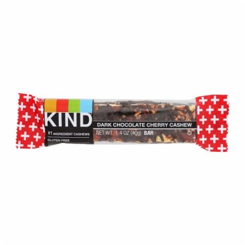 Kind Bar - Dark Chocolate Cherry Cashew Plus Anti-Oxidants- Case of 12 - 1.4 oz Perspective: front