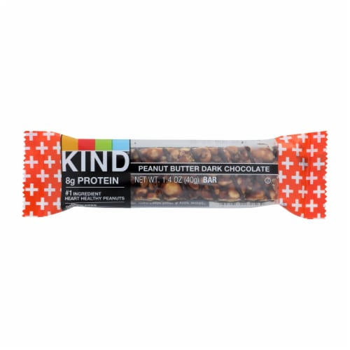 Kind Bar - Peanut Butter Dark Chocolate Plus Protein - Case of 12 - 1.4 oz Perspective: front