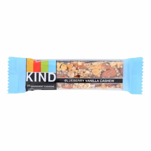 Kind Bar - Blueberry Vanilla and Cashew - 1.4 oz Bars - Case of 12 Perspective: front