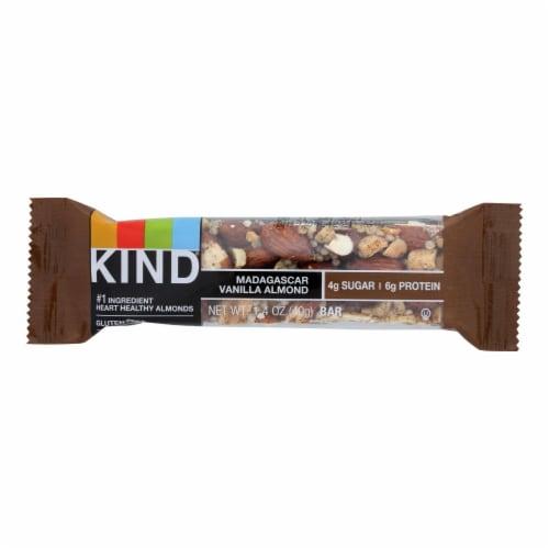 Kind Bar - Madagascar Vanilla Almond - 1.4 oz Bars - Case of 12 Perspective: front