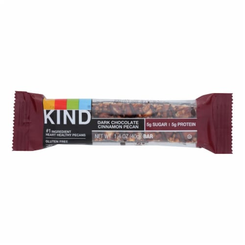 Kind Bar - Dark Chocolate Cinnamon Pecan - 1.4 oz Bars - Case of 12 Perspective: front