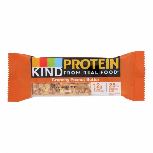 Kind Protein From Real Food Crunchy Peanut Butter Bars  - Case of 12 - 1.76 OZ Perspective: front