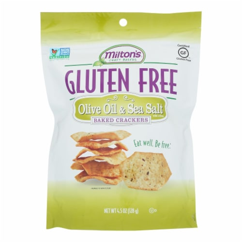 Miltons - Cracker Olive Oil Gluten Free - Case of 12 - 4.5 OZ Perspective: front