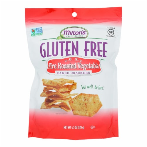Miltons - Cracker Veg Fire Roasted Gluten Free - Case of 12 - 4.5 OZ Perspective: front