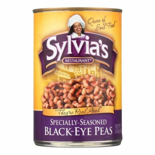 Sylvia's Black Eye Peas - Seasoned - Case of 12 - 15 oz. Perspective: front