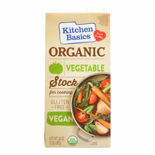 Kitchen Basics Vegetable Stock - Case of 12 - 32 oz. Perspective: front