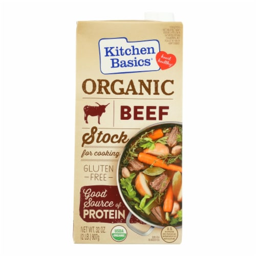 Kitchen Basics Beef Stock - Case of 12 - 32 Fl oz. Perspective: front