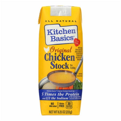 Kitchen Basics Chicken Stock - Case of 12 - 8.25 Fl oz. Perspective: front