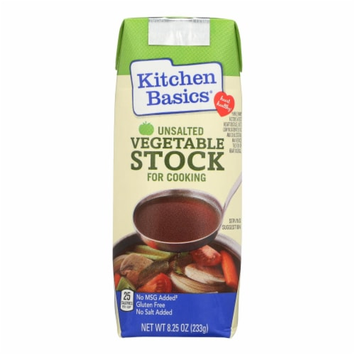 Kitchen Basics Vegetable Stock - Case of 12 - 8.25 Fl oz. Perspective: front