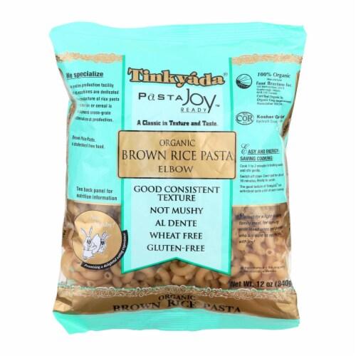 Tinkyada Organic Brown Rice Pasta - Elbows - Case of 12 - 12 oz Perspective: front