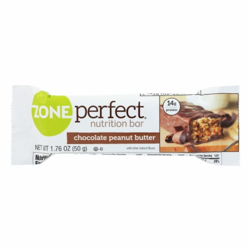 Zone - Nutrition Bar - Chocolate Peanut Butter - Case of 12 - 1.76 oz. Perspective: front