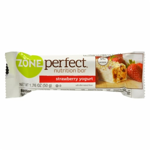 Zone - Nutrition Bar - Strawberry Yogurt - Case of 12 - 1.76 oz. Perspective: front