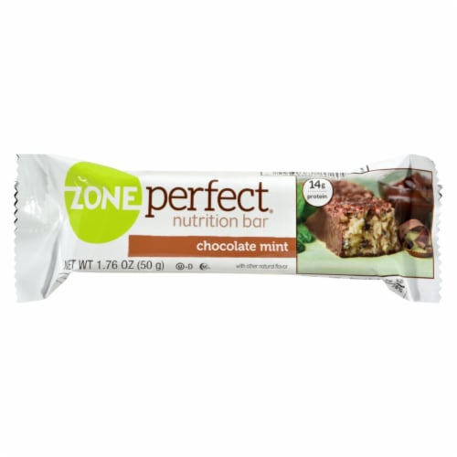 Zone - Nutrition Bar - Chocolate Mint - Case of 12 - 1.76 oz. Perspective: front
