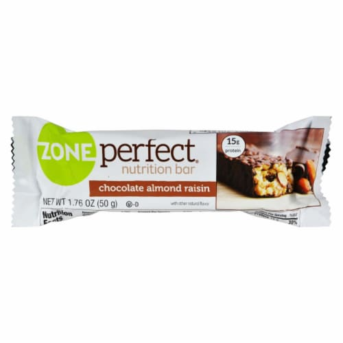Zone - Nutrition Bar - Chocolate Almond Raisin - Case of 12 - 1.76 oz. Perspective: front