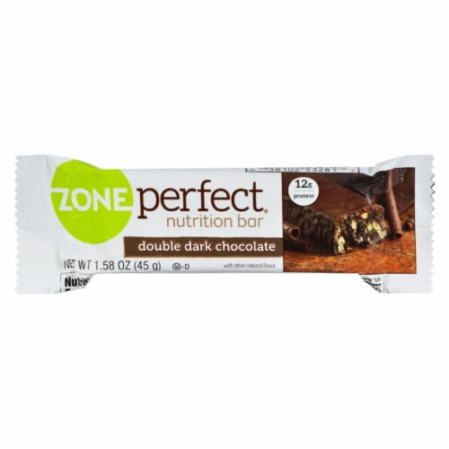 Zone - Nutrition Bar - Double Dark Chocolate - Case of 12 - 1.58 oz. Perspective: front
