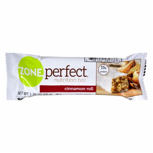 Zone - Nutrition Bar - Cinnamon Roll - Case of 12 - 1.76 oz. Perspective: front