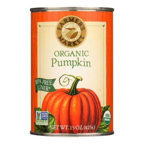 Farmer's Market Organic Pumpkin - Canned - Case of 12 - 15 oz. Perspective: front