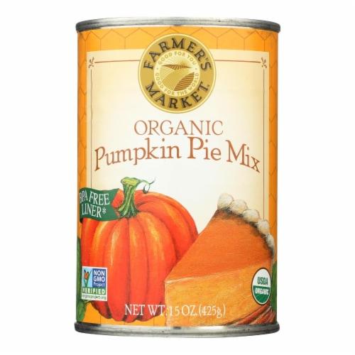 Farmer's Market Organic Pumpkin - Pie Mix - Case of 12 - 15 oz. Perspective: front