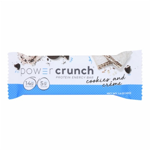 Power Crunch Bar - Cookies and Cream - Case of 12 - 1.4 oz Perspective: front