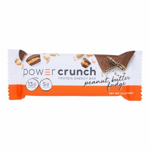 Power Crunch Bar - Peanut Butter Fudge - Case of 12 - 1.4 oz Perspective: front