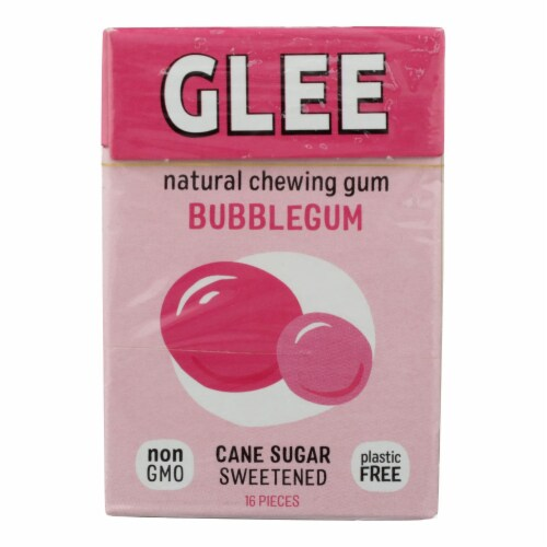 Glee Gum Chewing Gum - Bubblegum - Case of 12 - 16 Pieces Perspective: front
