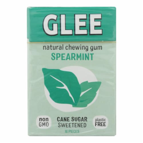 Glee Gum Chewing Gum - Spearmint - Case of 12 - 16 Pieces Perspective: front