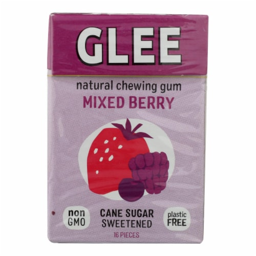Glee Gum Chewing Gum - Triple Berry - Case of 12 - 16 Pieces Perspective: front