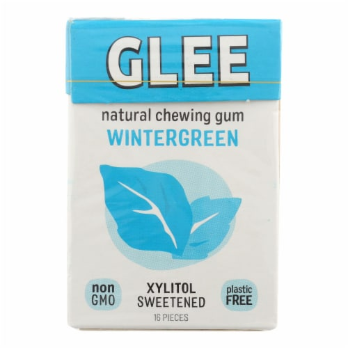 Glee Gum Sugar-Free Gum - Wintergreen - Case of 12 - 16 PC Perspective: front
