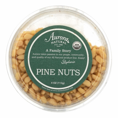 Aurora Natural Products - Organic Pine Nuts - Case of 12 - 4 oz. Perspective: front