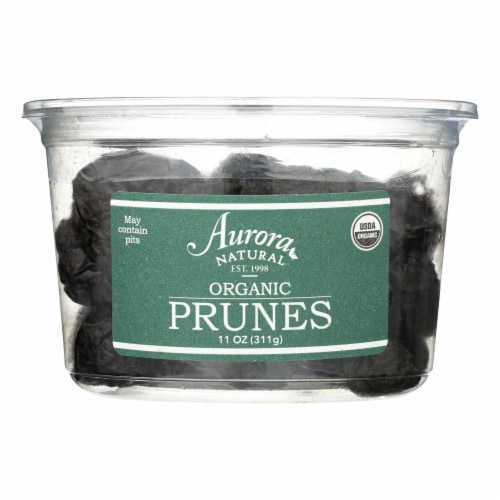 Aurora Natural Products - Organic Prunes - Case of 12 - 11 oz. Perspective: front