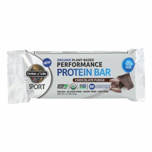 Garden Of Life - Sport Protein Bar - Chocolate Fudge - Case of 12 - 2.7 OZ Perspective: front