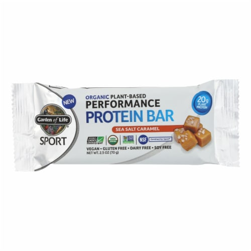 Garden Of Life - Sport Protein Bar Sea Salt Caramel - Case of 12 - 2.46 OZ Perspective: front