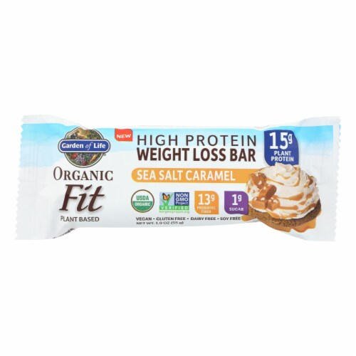 Garden Of Life - Fit High Protein Bar Sea Salt Caramel - Case of 12 - 1.9 OZ Perspective: front
