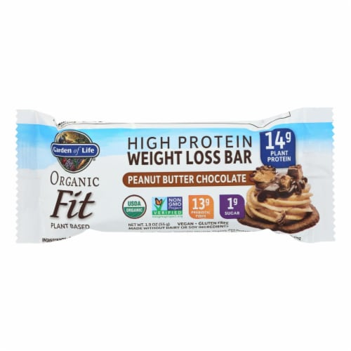 Garden Of Life - Fit High Protein Bar Peanut Butter Chocolate - Case of 12 - 1.9 OZ Perspective: front