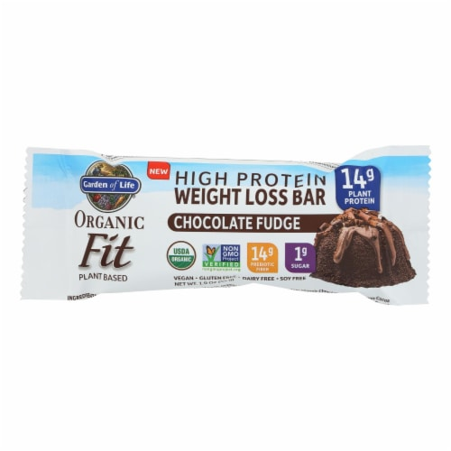 Garden Of Life - Fit High Protein Bar Chocolate Fudge - Case of 12 - 1.9 OZ Perspective: front