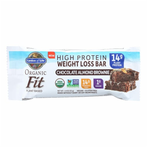 Garden Of Life - Fit High Protein Bar Chocolate Almond Brownie - Case of 12 - 1.9 OZ Perspective: front